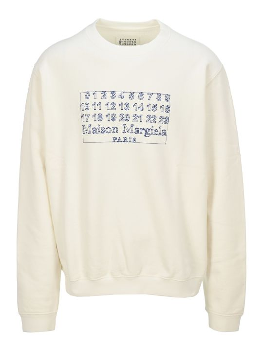 Maison Margiela Martin Margiela Numbers Logo Sweatshirt