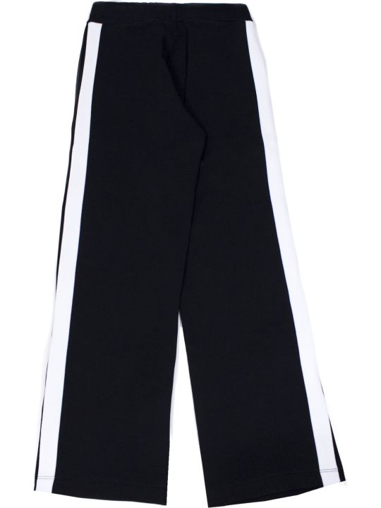 Balmain Black Cotton Button Track Pants
