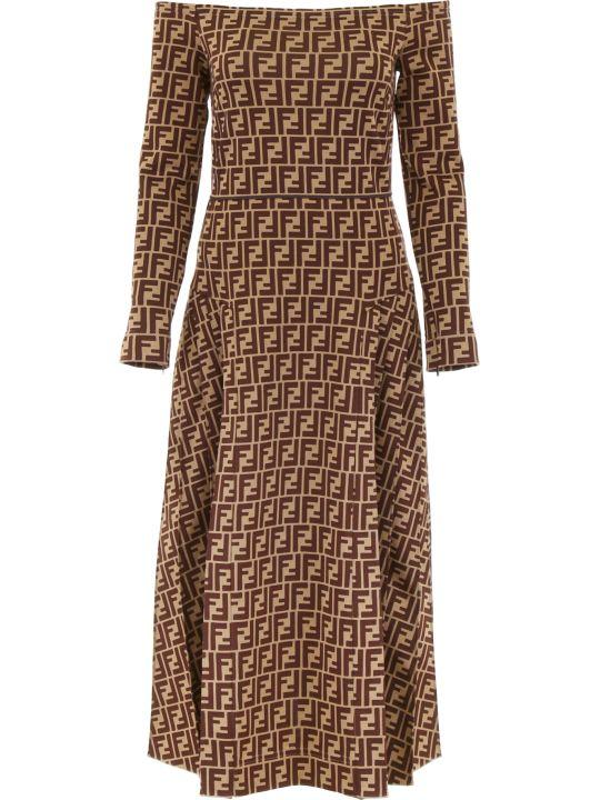 Fendi All-over Logo Dress