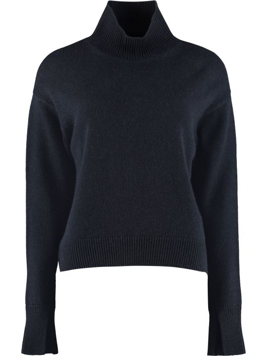 'S Max Mara Tecnico Long-sleeve Wool Turtleneck