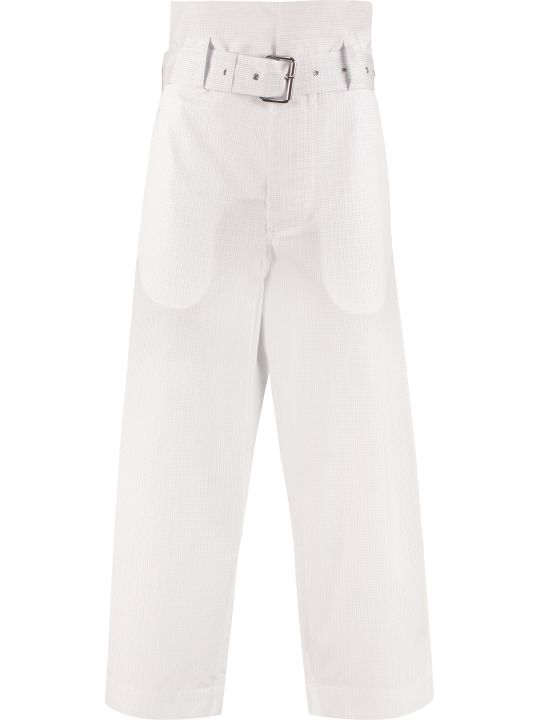 Plan C Cotton High-waist Culotte-pants