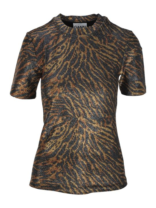 Ganni Tiger Print Top