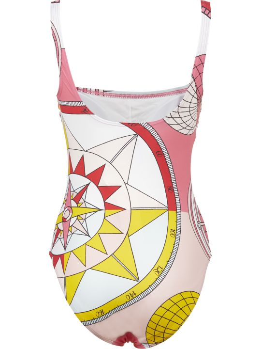 Tory Burch Compass Print Swimsuit