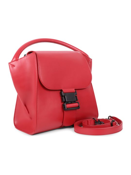 Zucca Red Buckled Bag M