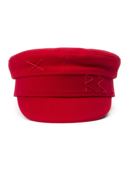 Ruslan Baginskiy Red Cotton Baker Boy Hat