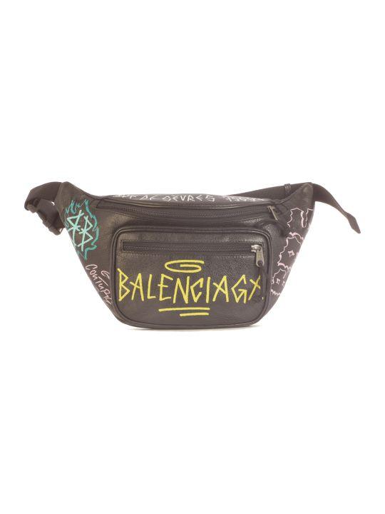 Balenciaga Explorer Beltpack Cuir Arena Graffiti And Logo