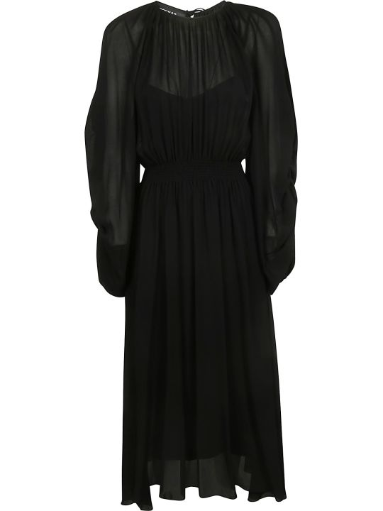 Rochas Long Oversized Pleated Dress
