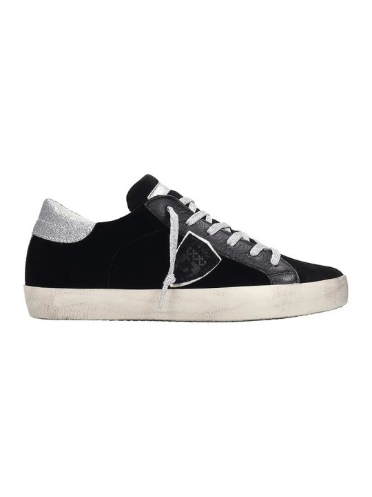 Philippe Model Paris Sneakers In Black Velvet