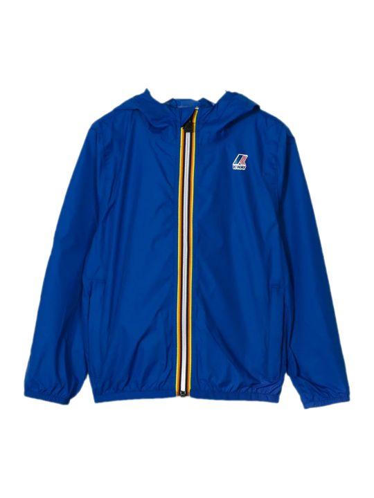 K-Way Blue Contrast Zip Up Jacket