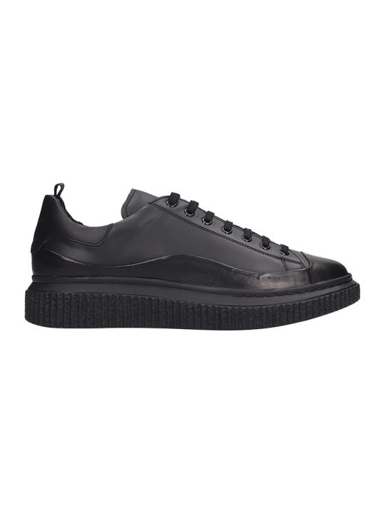 Officine Creative Krace Sneakers In Black Leather