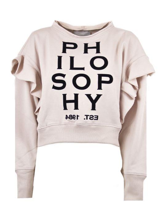 Philosophy di Lorenzo Serafini Pink Cotton Sweatshirt