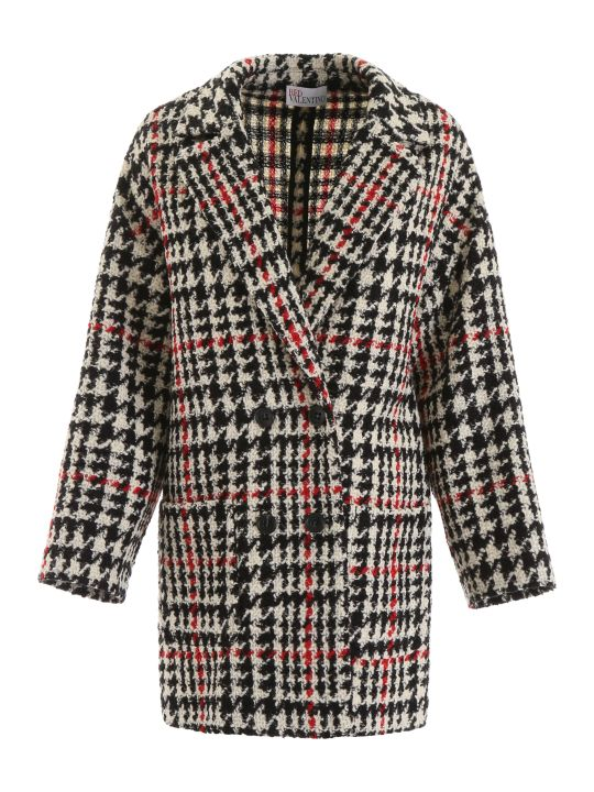 RED Valentino Macro Houndstooth Coat