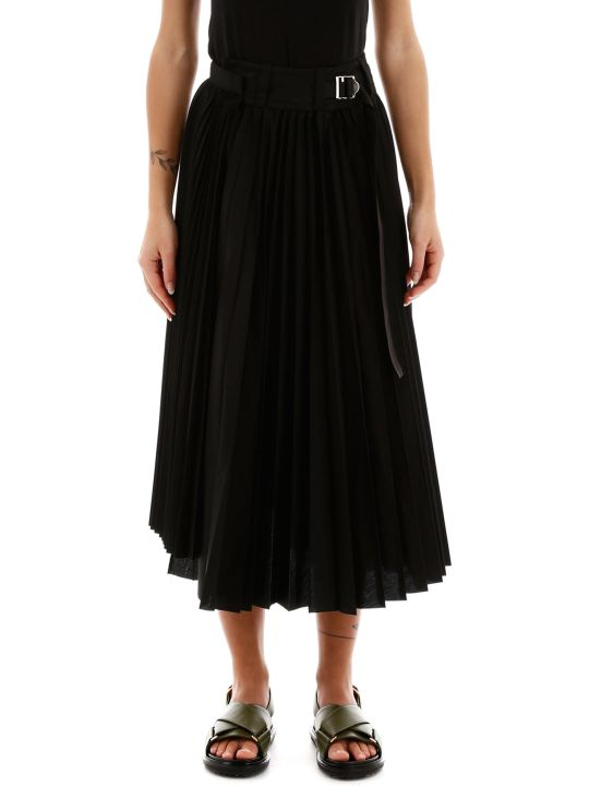 Sacai Pleated Wrap Skirt
