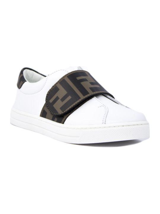 Fendi White Leather Sneakers