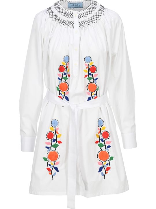 Prada Floral Embroidered Dress