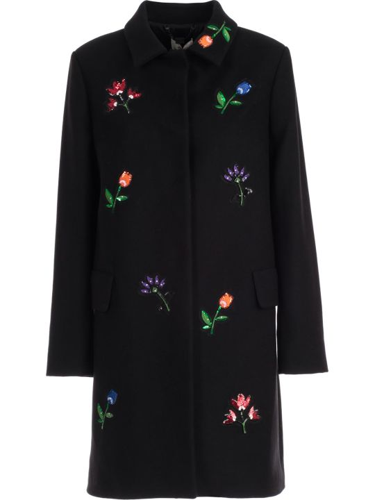 Be Blumarine Coat W/embroidery Paillettes