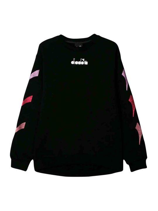 Diadora Black Teen Sweatshirt