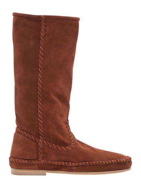 Alberta Ferretti Mid-calf Suede Boots