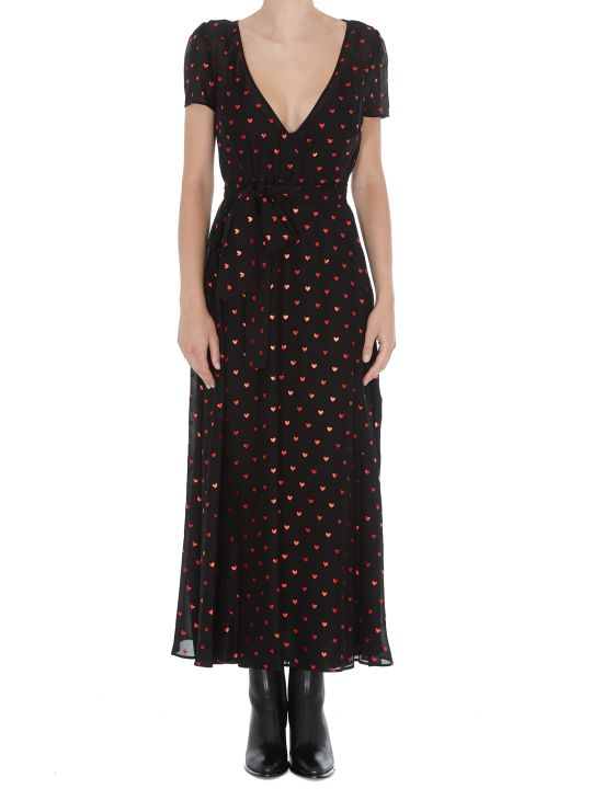 RED Valentino Hearts Detail Long Patterned Dress