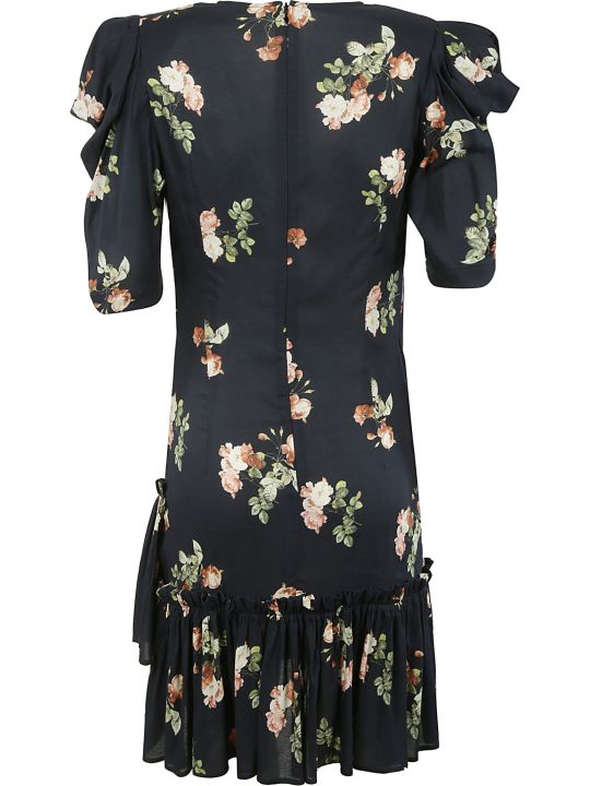 Circus Hotel Floral Printed V-neck Dress