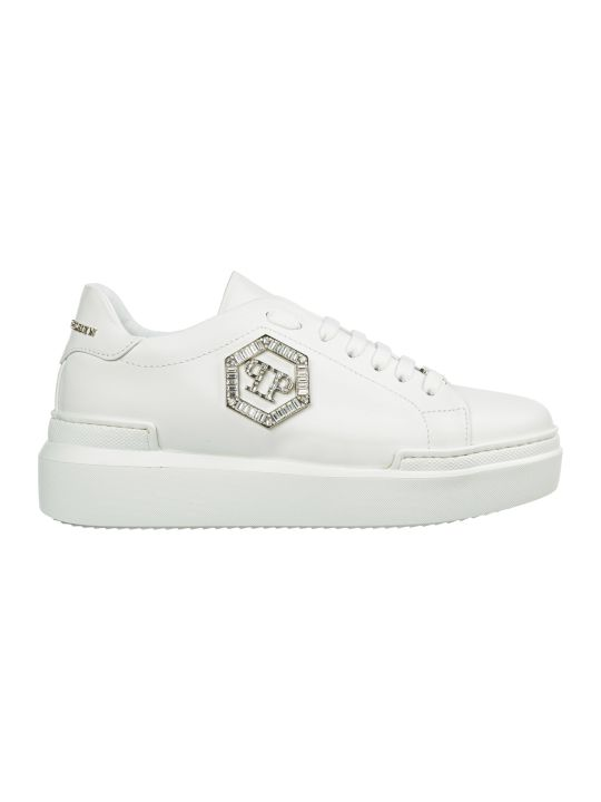 Philipp Plein  Shoes Leather Trainers Sneakers Crystal