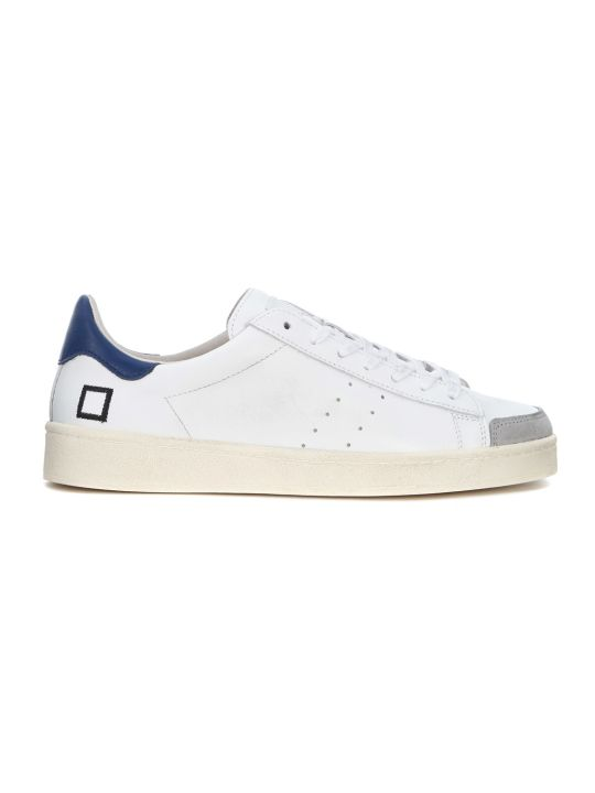 D.A.T.E. Twist White Leather And Suede Sneaker
