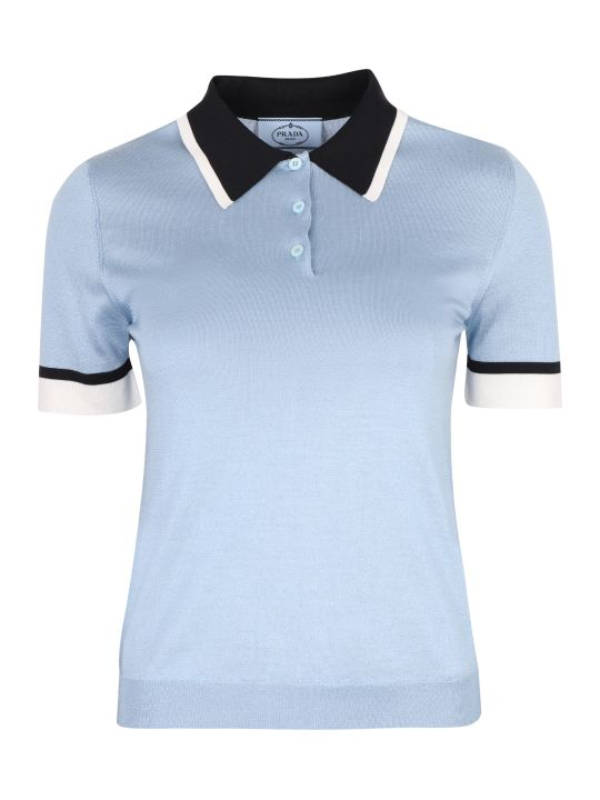 Prada Silk-knit Polo Shirt
