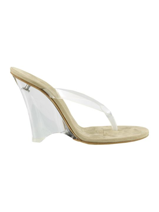 Yeezy Wedge Thong Sandals In Soft Pvc