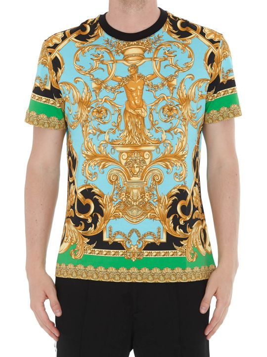 Versace Patterned Logo Tshirt