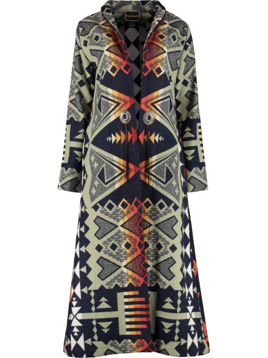 Jessie Western Waterarrow Wool Long Coat