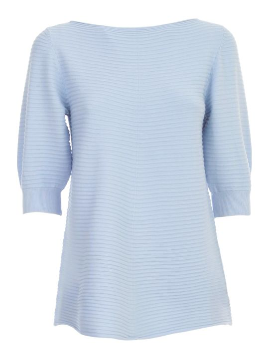 Emporio Armani Sweater S/s W/horizontal Stripes