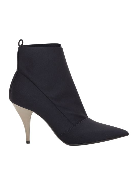 Casadei Ankle Boots In Stretch Fabric