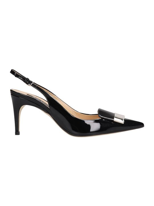 Sergio Rossi Pumps In Black Patent Leather