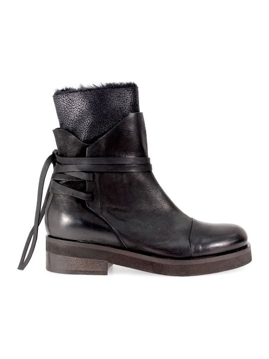 IXOS Black Leather Laces Boot