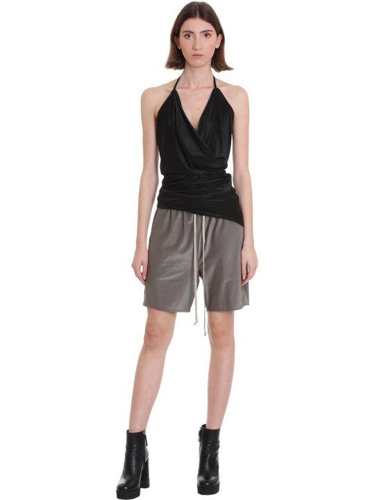 Rick Owens Lilies Topwear In Black Viscose