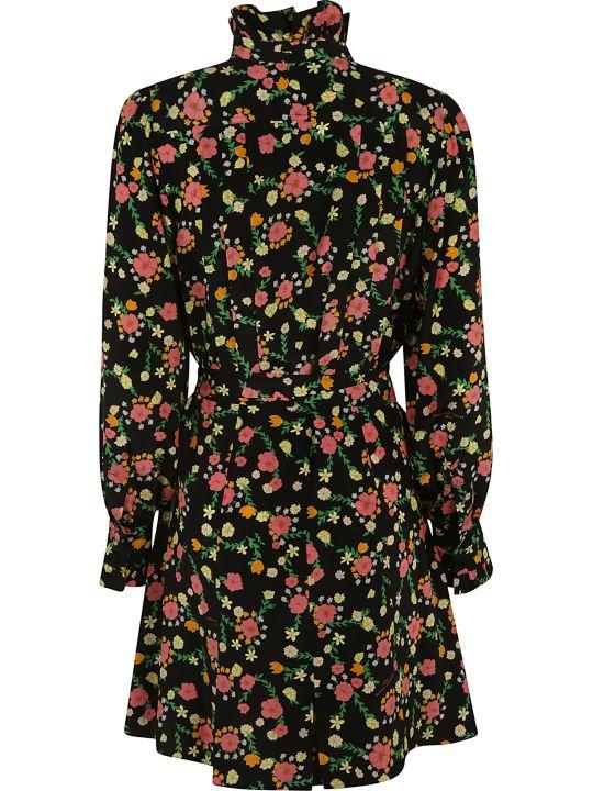 Marc Jacobs Floral Print Bow Detail Dress