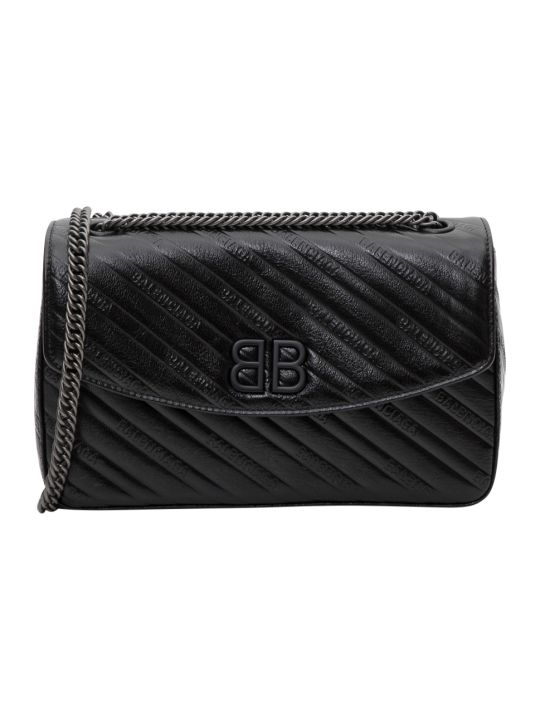 Balenciaga Bb Chain M Quilted Crossbody Bag
