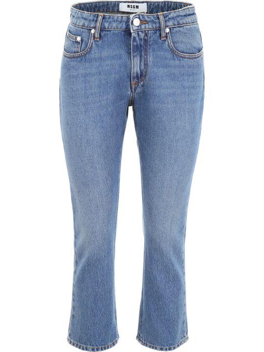 MSGM Logo Print Jeans