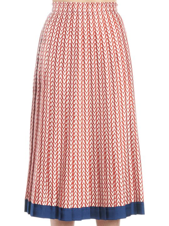 Valentino 'v Optical' Skirt