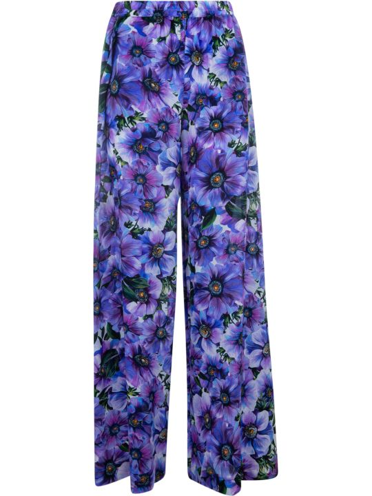 Dolce & Gabbana All-over Floral Printed Trousers