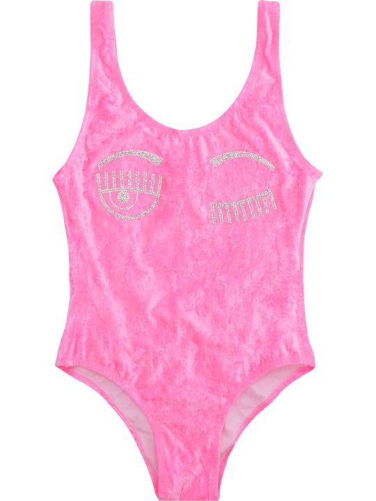 Chiara Ferragni Flirting Chenille One-piece Swimsuit