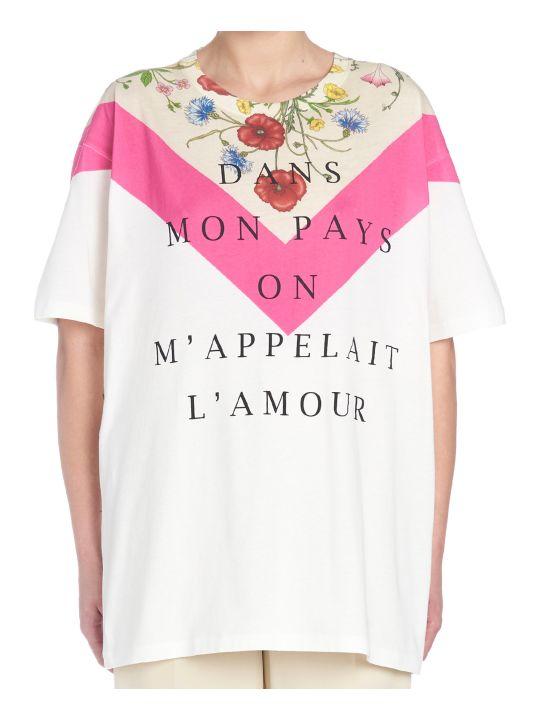 Gucci 'flora Fluo' T-shirt
