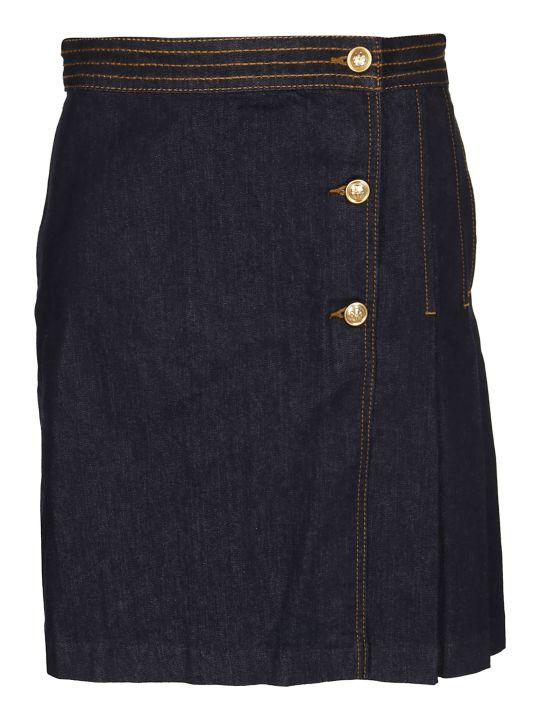 Tory Burch Wrap Denim Skirt