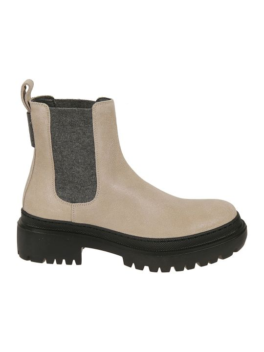 Brunello Cucinelli Elasticated Side Ankle Boots