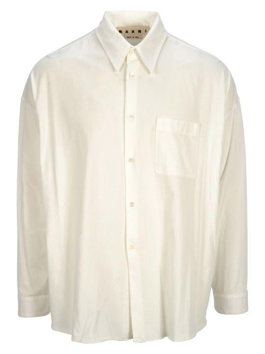 Marni Camicia White Jersey