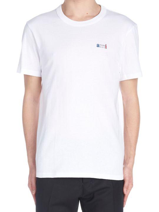 Ami Alexandre Mattiussi 'lettering Tricolor' T-shirt