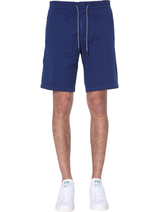 Z Zegna Mixed Cotton And Linen Shorts