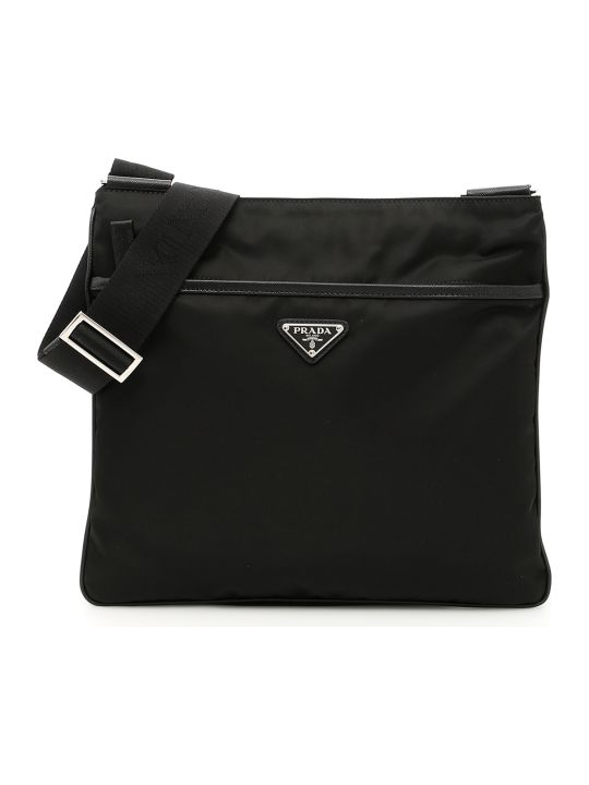 Prada Twill And Saffiano Travel Bag