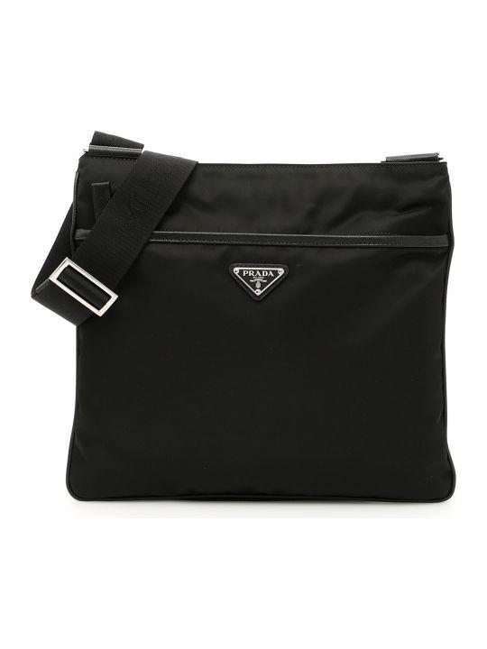 Prada Twill And Saffiano Travel Bag