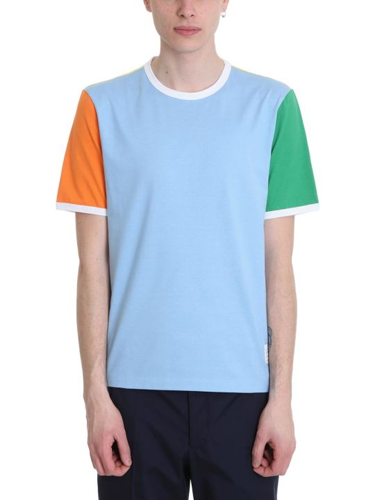 Thom Browne Ringer Tee Multicolor Cotton T-shirt